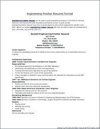 Resume Format For Freshers Pdf Resume Format For Freshers Mechanical
