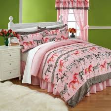 horse bedding sets adorable mustang sally horses pink twin comforter set with comfortable twin size red