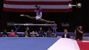 Gymnast Simone Biles competes on floor at PG Championships NBC