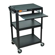 home office computer desks. Mobile Stand Up Computer Desk Workstation Cart In Black Steel Home Office Desks