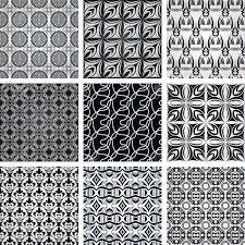 Repeating Patterns Adorable Set Of Nine Repeating Patterns In Retro Style Royalty Free Cliparts