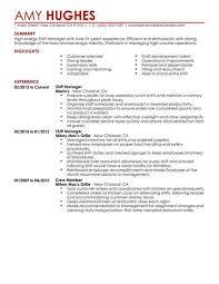 Restaurant Resume Template Basic Resume Template Best Restaurant Shift Manager Resume Example