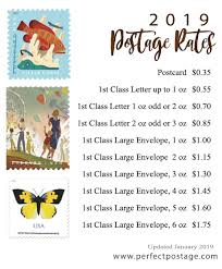 Large Envelope Postage Chart 2019 Postage Rates Perfect Postage Usps Postage Stamps