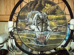 Huge Dream Catchers Free A HUGE DREAMCATCHER WITH WOLF AND INDIAN Home Decor 60