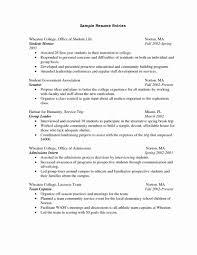 College Resume Format Horsh Beirut