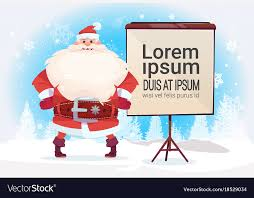 Free Standing Flip Chart Santa Claus Standing With Empty Flip Chart For