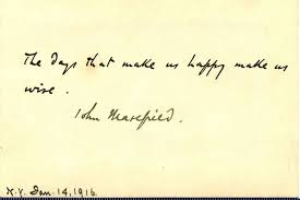 Quotation Poetry Handwritten Poetry Quotation By John Masefield John Masefield No
