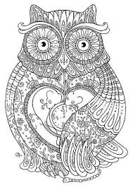 Hard Coloring Pages Best Of Abstract Owl Coloring Pages ...