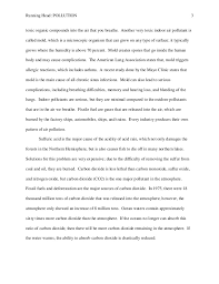 essays on air pollution co air pollution essay