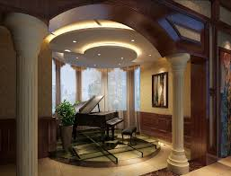 Villa Piano Area Design Arch Curtain House