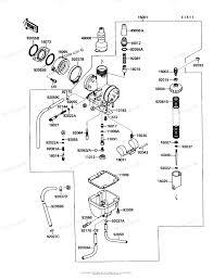 Kawasaki atv 1991 oem parts diagram for carburetor partzilla brilliant bayou 220