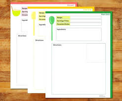 Full Page Recipe Template Editable For Word Free Resume Stock Photos