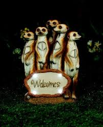 a large solar powered meerkat family