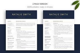 Professional Resume Template Natalie Bonus