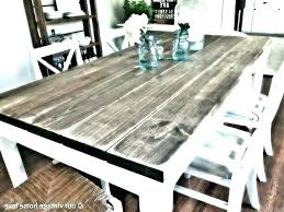 white and grey dining room set table chairs gray washed weathered farmhouse fresh distressed kitchen good looking far