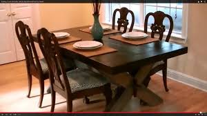 Building Dining Table Building A Rustic Farm Table Step By Step With Wood From My