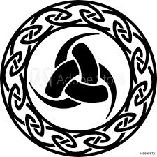 Fotografie Obraz Triple Horn Of Odin Celtic Endless Knot Posterscz