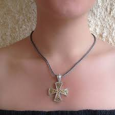 gerochristo 5359 solid 18k gold silver filigree maltese cross pendant