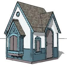 gingerbread playhouse plan diy plans crooked