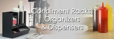 condiment racks organizers dispensers