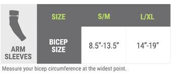 Vox11 Nike Pro Combat Sleeve Size Chart