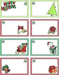 Christmas Gift Labels Templates Word Printable Holiday Gift Tags Template