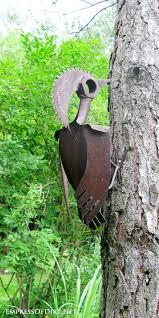 garden art ideas rusty shelf birdhouse hardware and tool box at the the rusty garden art garden art