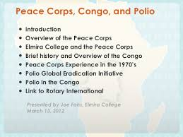 Peace Corps Resume Stunning Peace Corps Congo And Polio