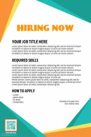 Job Posting Template Create Hiring Job Posters For Free Postermywall