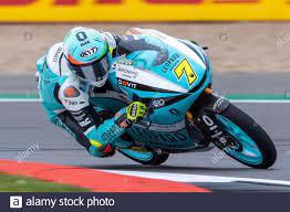 Silverstone Circuit, Silverstone, Northamptonshire, Großbritannien. August  2021. MotoGP British Grand Prix, Trainingstag; Leopard Racing Fahrer Dennis  Foggia auf seiner Honda NSF250RW in der Moto3 Kategorie Credit: Action Plus  Sports/Alamy Live News ...