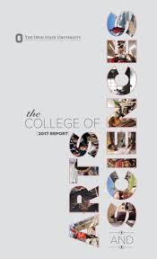 college report by college of arts and sciences at ohio state  page 1