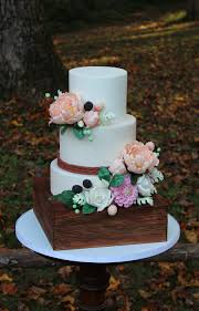 Rustic Floral Wedding Cake Cakecentralcom