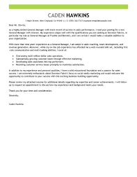 Best Sales General Manager Cover Letter Examples Collection Of