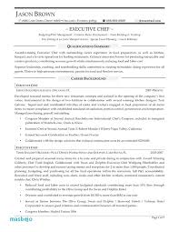 Personal Chef Resume Fascinating Executive Chef Resume Examples Free Resume Template Evacassidyme