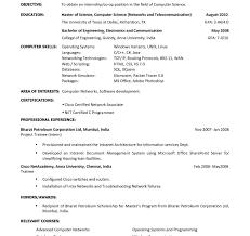 Architect Resume Objective Marieclaireindia Com