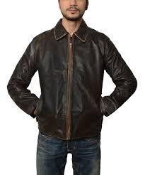 mens flight distressed brown leather jacket