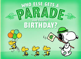 Birthday On Day Card Peanuts Snoopy St Patrick S Day Birthday Card Greeting Cards