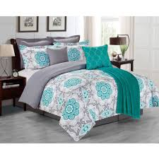 teal queen comforter. All White Comforter Gray And Teal Queen Navy Turquoise Bed Sheets Bedspread Dark Blue