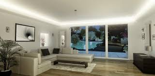 lounge lighting. LED Ceiling Lighting Ideas: Integrated In Modern Lounge
