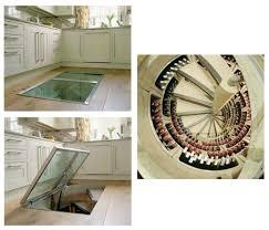 ... Charming Wine Cellar Spiral Staircase Design Ideas : Interactive Kitchen  Decoration With Hardwood Kitchen Floor Design ...