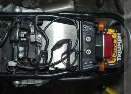 bonnie mod 16 maund speed fender eliminator kit new bonneville wiring the rear light assembly of a triumph bonneville t100 the maund fender eliminator kit