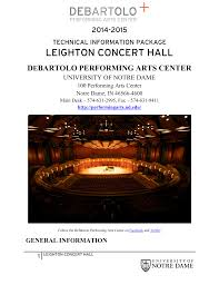 Leighton Concert Hall Seating Chart Leighton Concert Hall Debartolo Performing Arts Center