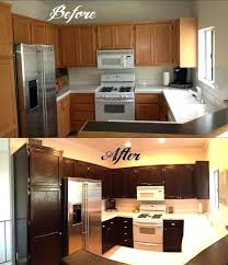 painting over dark stained kitchen cabinets staining maple darker explore oak