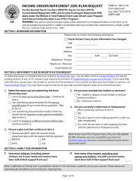 Ibr Repayment Chart Income Based Repayment Form Fedloan Fill Online Printable