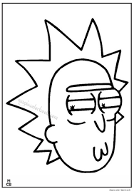 Small Picture Pin by Magic Color Book on Rick and Morty Coloring pages free