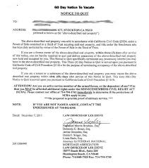 landlord eviction letter template and printable sle tenant 30 day notice to vacate form