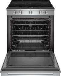 whirlpool 6 4 cu ft self cleaning slide in electric convection range stainless steel weea25h0hz best