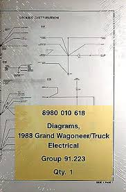 wagoneer wiring diagram schematics and wiring diagrams 1984 jeep grand wagoneer j truck original wiring diagram schematic