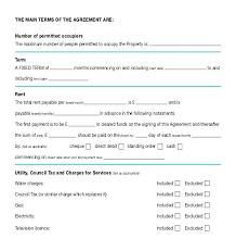 Free Printable Rental Agreement Interesting Basic Rental Agreement Template Letscookvegan