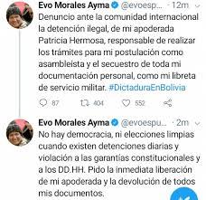Image result for bolivia morales documentos